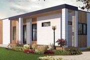 Contemporary Style House Plan - 2 Beds 1 Baths 631 Sq/Ft Plan #23-2602 Exterior - Other Elevation