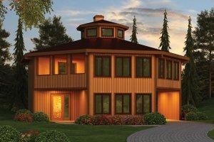 House Plan Design - Contemporary Exterior - Front Elevation Plan #314-293