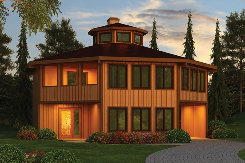 Contemporary Exterior - Front Elevation Plan #314-293 - Houseplans.com