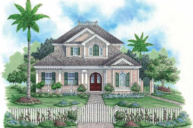 Country Exterior - Front Elevation Plan #1017-17