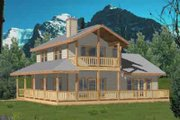 Country Style House Plan - 2 Beds 2.5 Baths 1526 Sq/Ft Plan #117-453 Exterior - Front Elevation