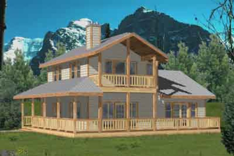 Country Exterior - Front Elevation Plan #117-453 - Houseplans.com