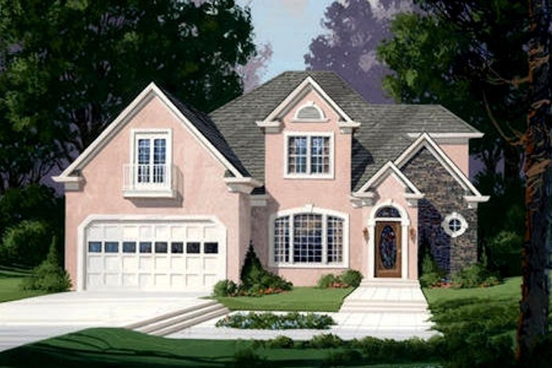 Home Plan Design - European Exterior - Front Elevation Plan #56-186