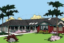 Country Exterior - Front Elevation Plan #60-839