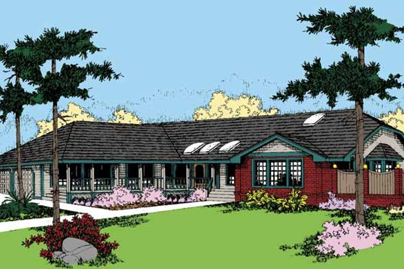 Dream House Plan - Country Exterior - Front Elevation Plan #60-839