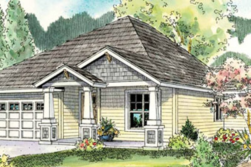 Dream House Plan - Craftsman Exterior - Front Elevation Plan #124-776