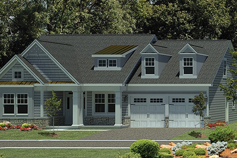 Craftsman Exterior - Front Elevation Plan #316-274 - Houseplans.com