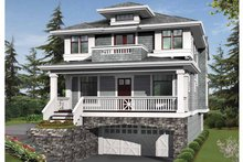 House Plan Design - Prairie Exterior - Front Elevation Plan #132-364