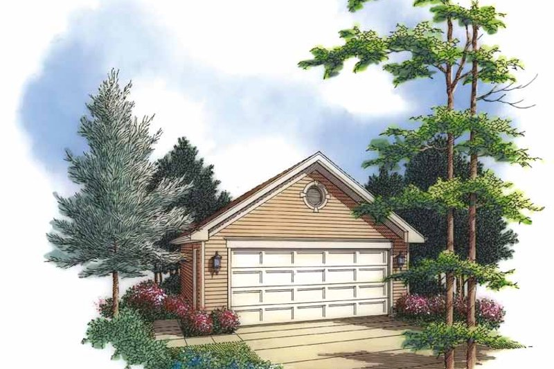 Exterior - Front Elevation Plan #48-838 - Houseplans.com