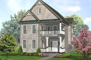 Victorian Style House Plan - 3 Beds 2.5 Baths 2123 Sq/Ft Plan #50-135 Exterior - Front Elevation