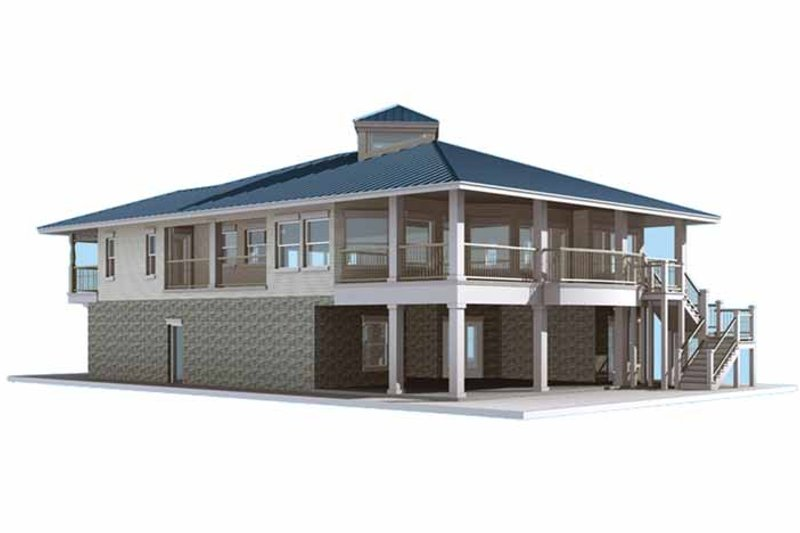 Country Exterior - Other Elevation Plan #64-286 - Houseplans.com