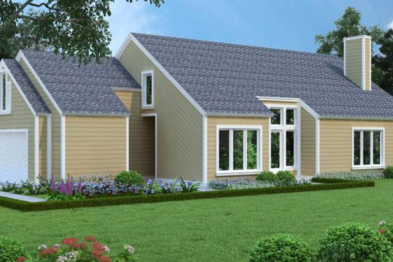 Traditional Exterior - Front Elevation Plan #45-473 - Houseplans.com