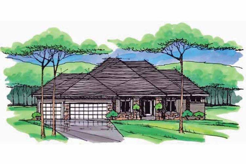 European Exterior - Front Elevation Plan #51-977 - Houseplans.com