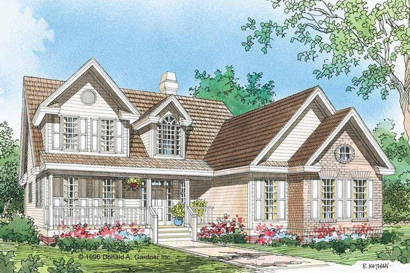 Country Exterior - Front Elevation Plan #929-461