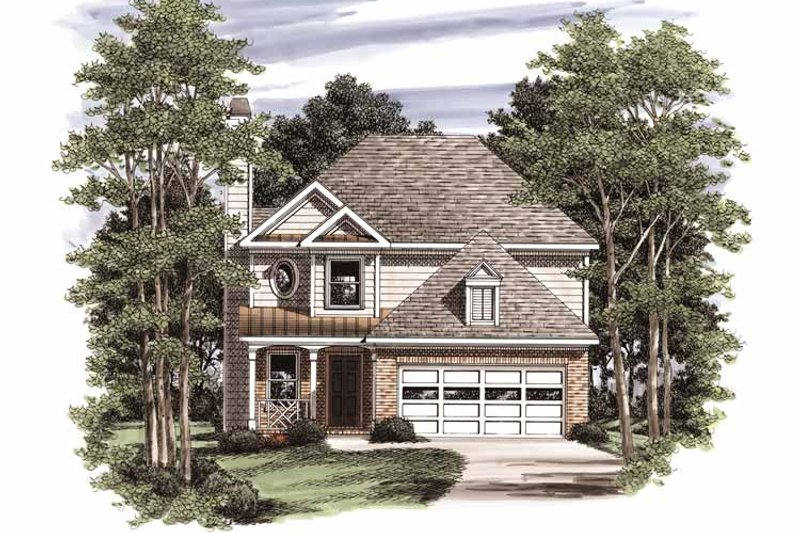 Country Exterior - Front Elevation Plan #927-758