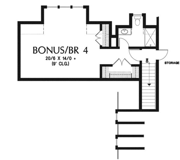 Country Floor Plan - Other Floor Plan Plan #48-898
