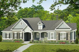 Ranch Exterior - Front Elevation Plan #1010-195