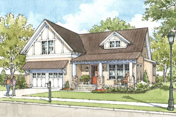 Craftsman Exterior - Front Elevation Plan #900-1