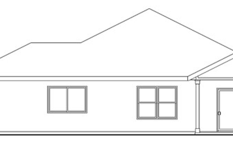 Craftsman Exterior - Rear Elevation Plan #124-776 - Houseplans.com