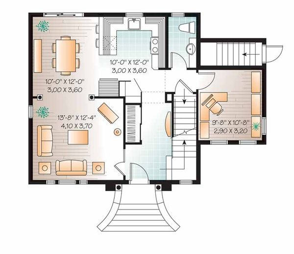 European Floor Plan - Main Floor Plan Plan #23-2504