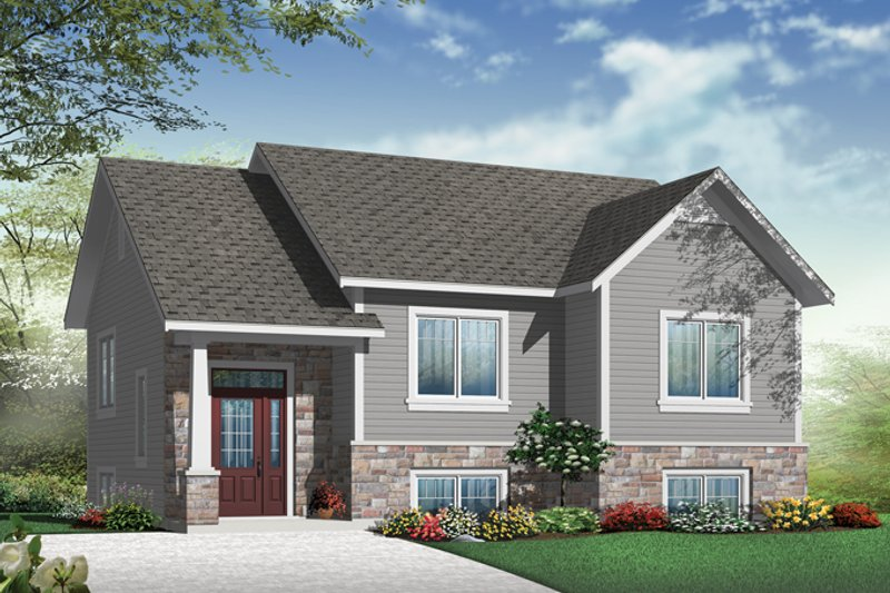 Craftsman Exterior - Front Elevation Plan #23-2577