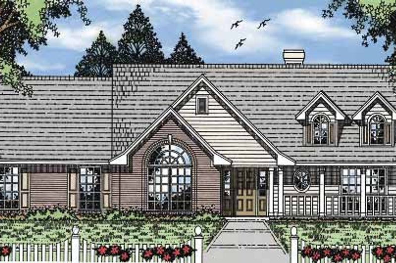 Country Exterior - Front Elevation Plan #42-585