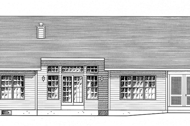 Ranch Exterior - Rear Elevation Plan #316-286 - Houseplans.com
