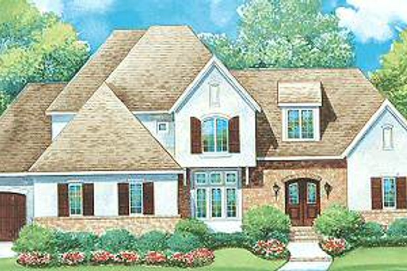 Dream House Plan - European Exterior - Front Elevation Plan #20-1706