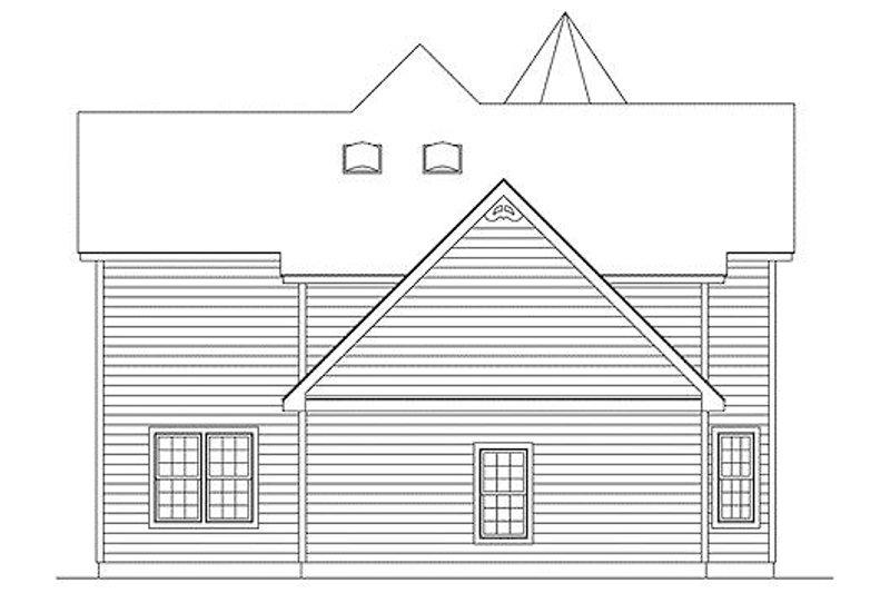 Victorian Exterior - Rear Elevation Plan #57-226 - Houseplans.com