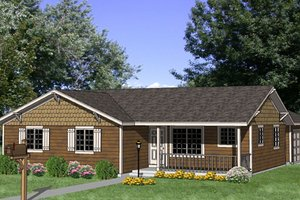 Ranch Exterior - Front Elevation Plan #116-301