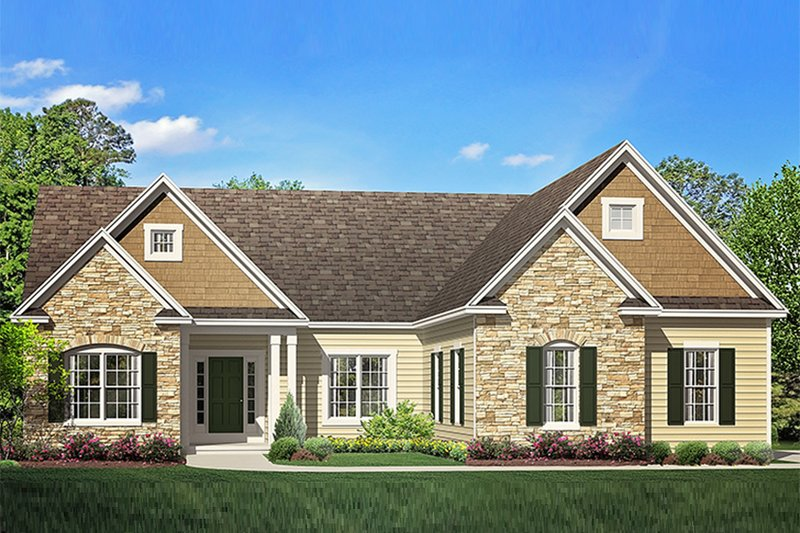 Architectural House Design - Ranch Exterior - Front Elevation Plan #1010-202