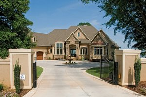 Dream House Plan - European Exterior - Front Elevation Plan #929-895