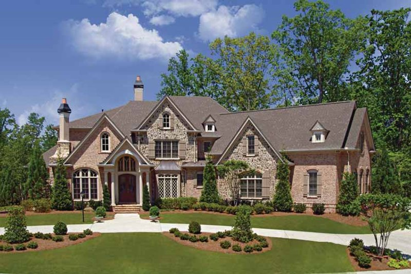 European Exterior - Front Elevation Plan #54-282 - Houseplans.com