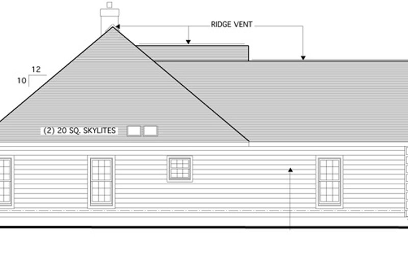 Traditional Exterior - Other Elevation Plan #1053-22 - Houseplans.com