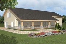 Dream House Plan - Contemporary Exterior - Front Elevation Plan #117-855