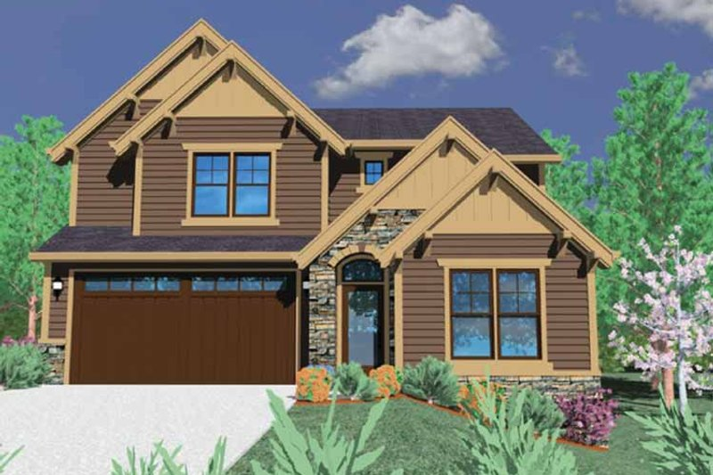 Craftsman Exterior - Front Elevation Plan #509-334 - Houseplans.com