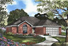 Ranch Exterior - Front Elevation Plan #17-3107