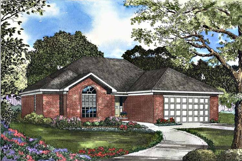 Dream House Plan - Ranch Exterior - Front Elevation Plan #17-3107