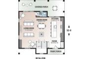 Modern Style House Plan - 3 Beds 2.5 Baths 1824 Sq/Ft Plan #23-2682 Floor Plan - Main Floor Plan
