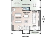 Modern Style House Plan - 3 Beds 2.5 Baths 1824 Sq/Ft Plan #23-2682 Floor Plan - Main Floor