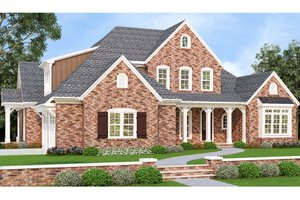 European Exterior - Front Elevation Plan #927-426