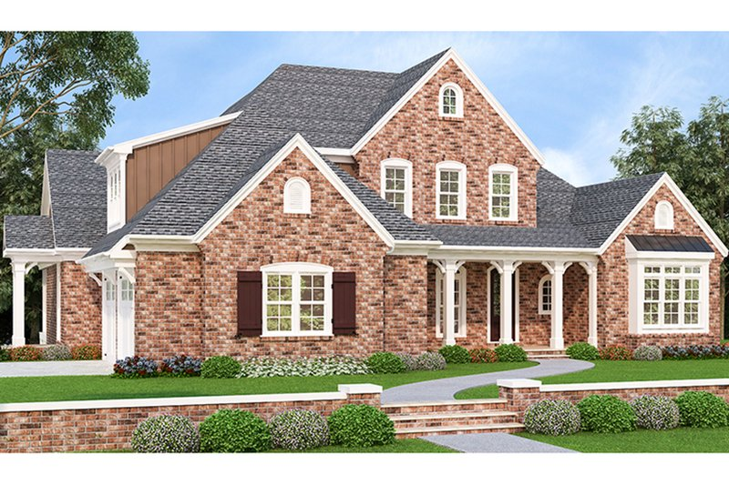 House Plan Design - European Exterior - Front Elevation Plan #927-426