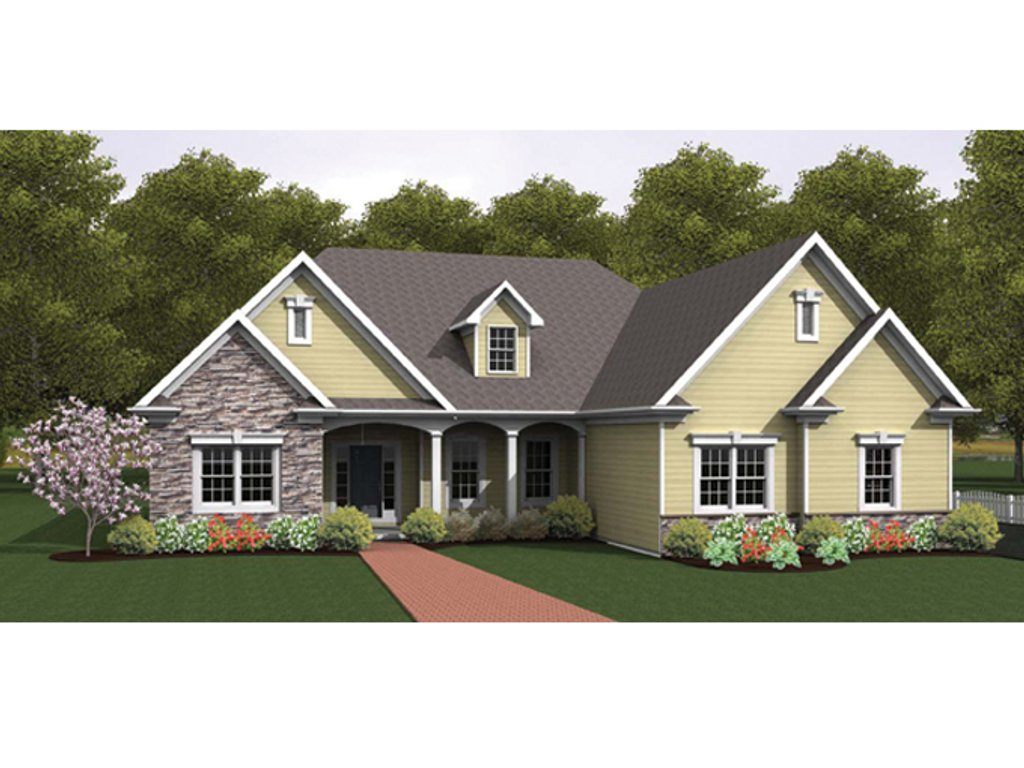 Ranch style house plan 3 beds 2 5 baths 2134 sq ft plan for Homplans