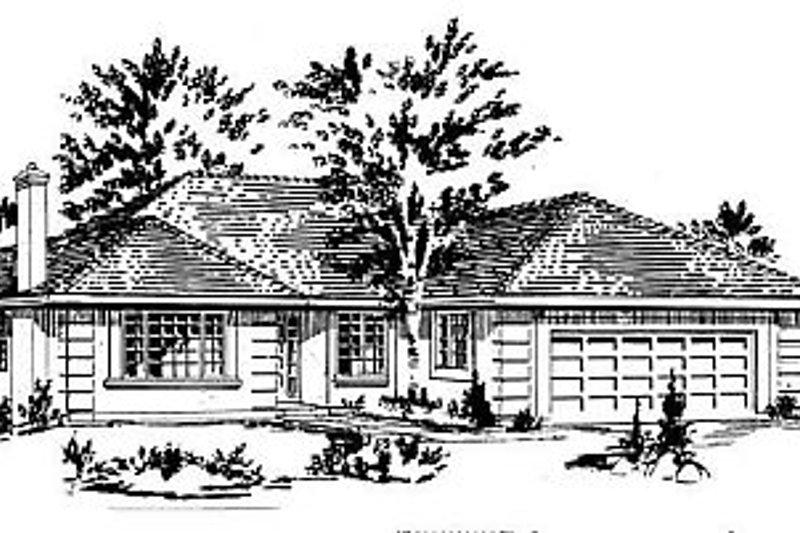 House Blueprint - European Exterior - Front Elevation Plan #18-149