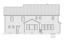 Colonial Exterior - Rear Elevation Plan #1010-173