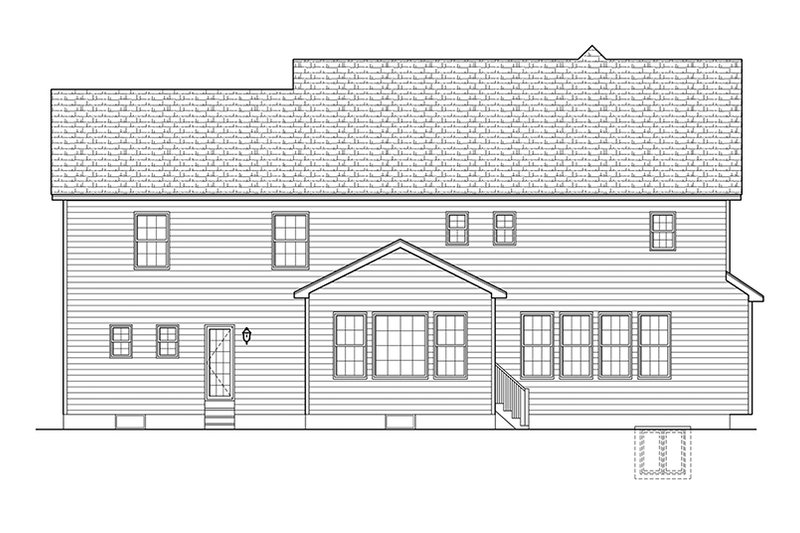 Colonial Exterior - Rear Elevation Plan #1010-173 - Houseplans.com