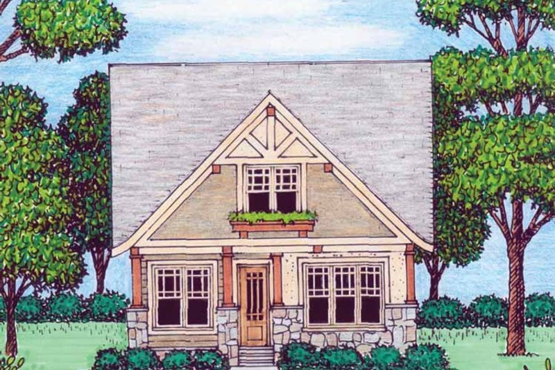 Home Plan - Tudor Exterior - Front Elevation Plan #413-907