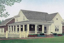 House Plan Design - Country Exterior - Front Elevation Plan #306-133