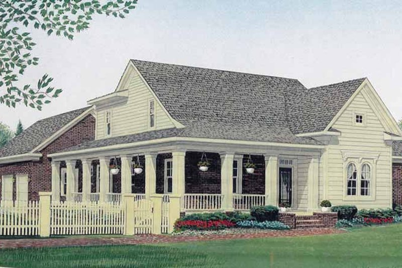 Country Exterior - Front Elevation Plan #306-133 - Houseplans.com