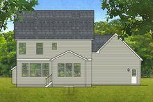 Colonial Exterior - Rear Elevation Plan #1010-198